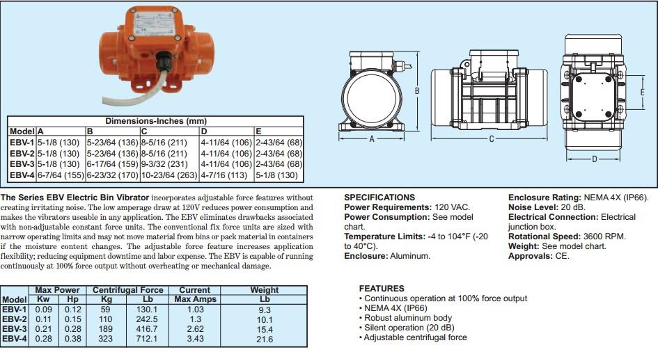 美国震动电机EBV1/EBV2/EBV3/EBV4
